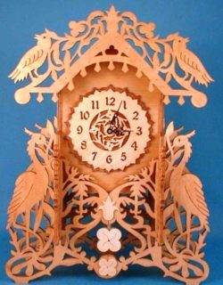 bird clock file cdr and dxf free vector download for Laser cut