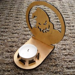 candle base Oogie Boogie  file cdr and dxf free vector download for Laser cut