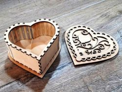 casket heart file cdr and dxf free vector download for Laser cut