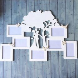 couple frame and tree file cdr and dxf free vector download for Laser cut