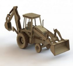 excavator and bulldozer file cdr and dxf free vector download for Laser cut
