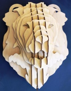 female lion's head file cdr and dxf free vector download for Laser cut CNC