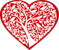 heart and tree file cdr and dxf free vector download for laser engraving machines