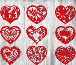 heart cover file cdr and dxf free vector download for Laser cut