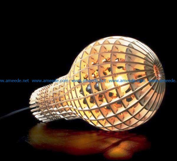 lamp bulb file cdr and dxf free vector download for Laser cut