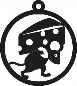 pieces of cheese on the back of the mouse free vector download for Laser cut