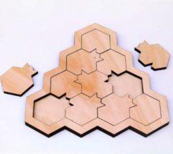 pomegranate puzzle file cdr and dxf free vector download for Laser cut