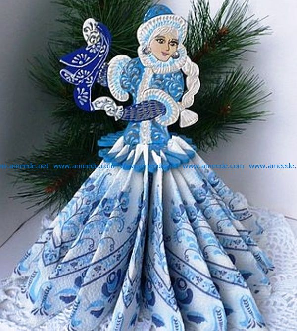 snow girl file cdr and dxf free vector download for Laser cut