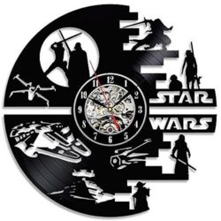 star war clock file cdr and dxf free vector download for Laser cut