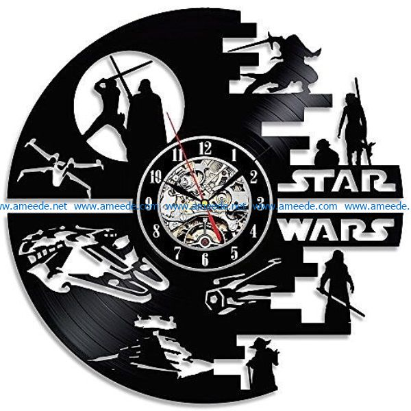 star war file cdr and dxf free vector download for Laser cut