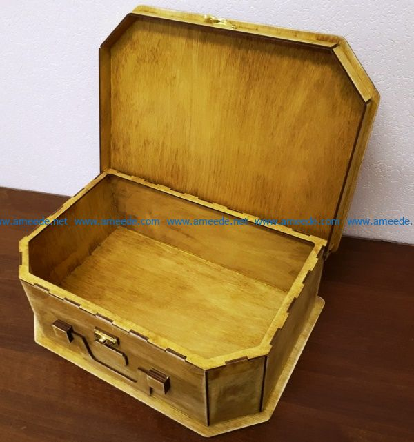 wooden treasure chest file cdr and dxf free vector download for Laser cut CNC