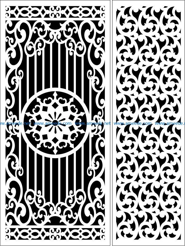 Design pattern panel screen E0008641 file cdr and dxf free vector download for Laser cut CNC