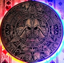 star wars mural file cdr and dxf free vector download for laser engraving machines