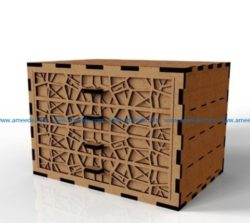 Box with drawers file cdr and dxf free vector download for Laser cut CNC