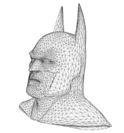 3D illusion led lamp bat man free vector download for laser engraving machines