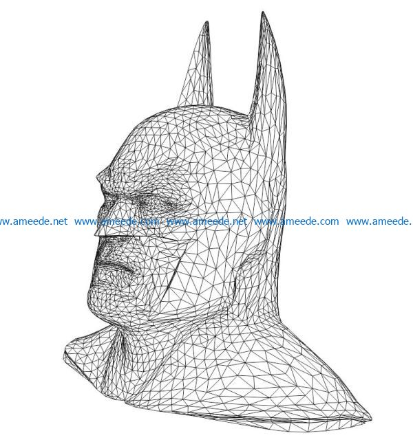 3D illusion led lamp bat man free vector download for laser engraving machines