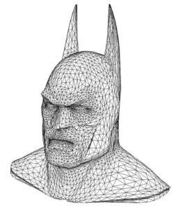 3D illusion led lamp bat man head free vector download for laser engraving machines