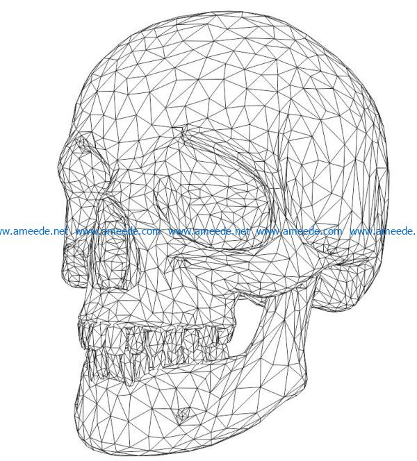 3D illusion led lamp skull man free vector download for laser engraving machines
