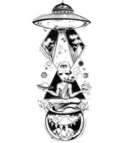 Aliens and UFO file cdr and dxf free vector download for laser engraving machines