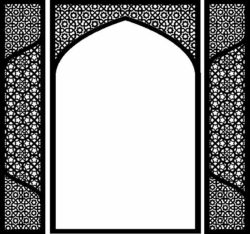 Arab style gate  file cdr and dxf free vector download for Laser cut CNC