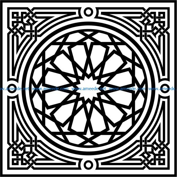 Arabesque file cdr and dxf free vector download for Laser cut