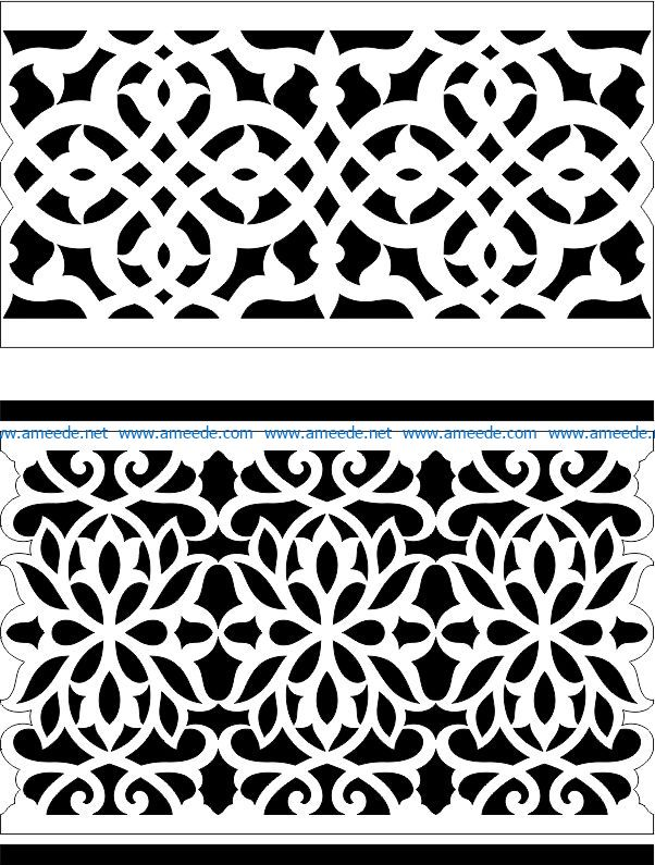 Arabic Border file cdr and dxf free vector download for Laser cut CNC