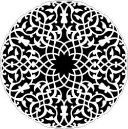 Arabic circle file cdr and dxf free vector download for Laser cut