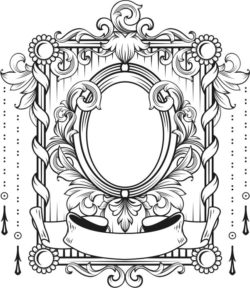 Art deco frame file cdr and dxf free vector download for laser engraving machines