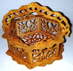 Art wooden basket file cdr and dxf free vector download for Laser cut