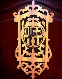 Barcelona clock file cdr and dxf free vector download for Laser cut