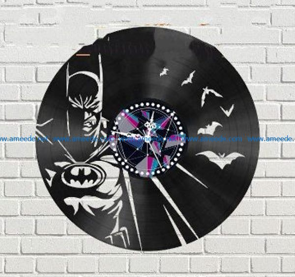 Bat man wall clock file cdr and dxf free vector download for Laser cut