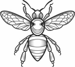 Bee file cdr and dxf free vector download for laser engraving machines