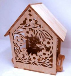 Bird house file cdr and dxf free vector download for Laser cut