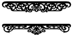 Border Design file cdr and dxf free vector download for Laser cut CNC