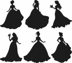 Bride silhouette file cdr and dxf free vector download for Laser cut Plasma