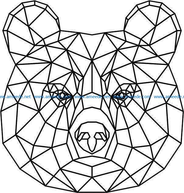 Brown bear 3d murals file cdr and dxf free vector download for Laser cut Plasma