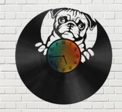 Bulldog wall clock file cdr and dxf free vector download for Laser cut