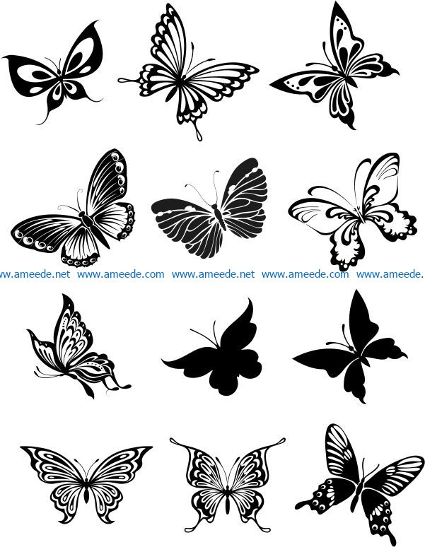 Butterfly carving file cdr and dxf free vector download for laser engraving machines