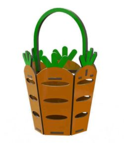 Carrot basket file cdr and dxf free vector download for Laser cut