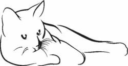 Cat lies file cdr and dxf free vector download for laser engraving machines