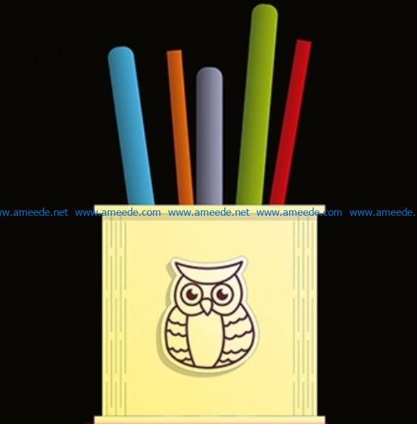 Children's pencil box file cdr and dxf free vector download for Laser cut