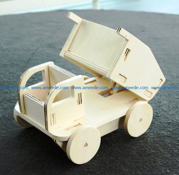 Children's toy car file cdr and dxf free vector download for Laser cut