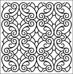 Classic Swirly pattern file cdr and dxf free vector download for laser engraving machines