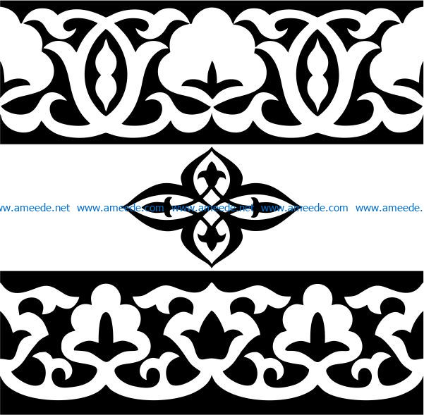 Classic wood carving pattern file cdr and dxf free vector download for Laser cut CNC