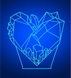 Crystal Heart file cdr and dxf free vector download for laser engraving machines