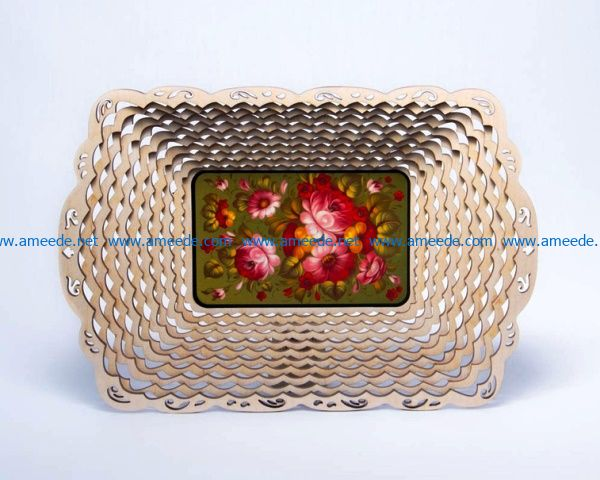 Decorative Basket file cdr and dxf free vector download for Laser cut