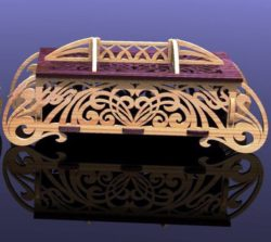 Decorative Casket file cdr and dxf free vector download for Laser cut