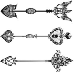 Decorative arrows file cdr and dxf free vector download for laser engraving machines