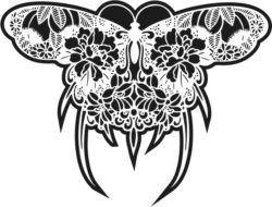 Decorative butterfly file cdr and dxf free vector download for Laser cut