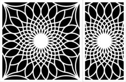 Decorative motifs sunflower  file cdr and dxf free vector download for laser engraving machines